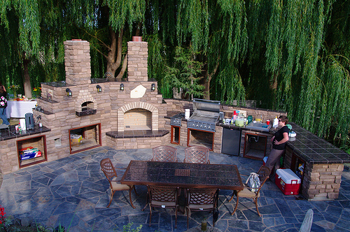 Covered outdoor kitchen plans outdoor kitchen plans for Covered outdoor kitchen plans