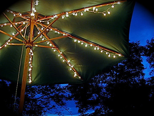String Lights On Umbrella : Patio Umbrella Lights Umbrella Lights Home Bedroom Decor